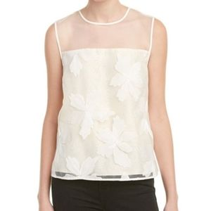 Rebecca Taylor Organza Floral Embroidered Blouse 6